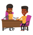 two african business men during meeting vector image vector image