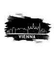 vienna skyline silhouette hand drawn sketch vector image vector image