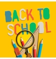 Welcome back to school on yellow background vector image vector image