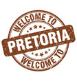 welcome to pretoria brown round vintage stamp vector image vector image