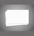 white paper sheets on transparent background vector image vector image