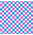 White pink blue check plaid fabric texture vector image vector image