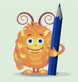 Good orange monsters vector image
