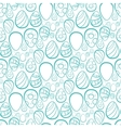 Happy Easter Blue Ornament vector image