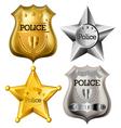 Police badge set vector image