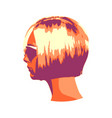 face of young woman in sunglasses vector image