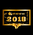 2018 happy new year and christmas background with vector image