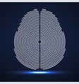 abstract human brain radial lines vector image