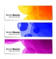 Banners headers colorful abstract set vector image vector image