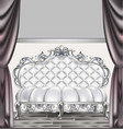 baroque luxury sofa rich imperial style furniture vector image vector image