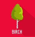 birch tree icon flat style vector image vector image