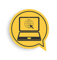 black website on laptop screen icon isolated on vector image vector image