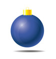 blue christmas ball 01 vector image
