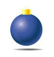 blue christmas ball 01 vector image vector image