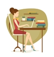 Business woman in office vector image vector image