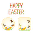 buttons happy easter wicker basket vector image vector image