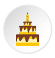 cake icon circle vector image vector image