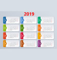 Calendar planner for 2019 year stationery
