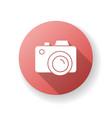 camera red flat design long shadow glyph icon vector image vector image