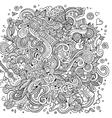 Cartoon hand-drawn doodles hippie vector image vector image