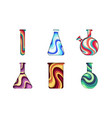 chemical laboratory glassware paper cut vector image