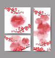 cherry blossom collection greeting cards vector image