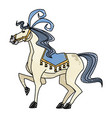 circus horse show happy festive image vector image vector image
