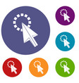 click icons set vector image vector image