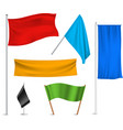Colored flags banners icons composition vector image