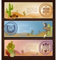 Cowboy Banners Set vector image vector image