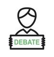 Debate vector image