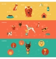 Dog icons banner set vector image