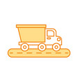 dump truck construction vehicle isolated icon vector image vector image