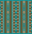 ethnic background with blue and brown tribal vector image vector image