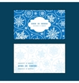 falling snowflakes horizontal frame pattern vector image vector image
