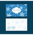 falling snowflakes horizontal frame pattern vector image