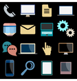 Flat Icons of web and mobile applications objects vector image