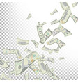flying dollar banknotes cartoon money vector image