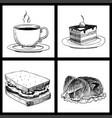 food sketch natural menu restaurant fresh vector image vector image