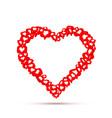 frame heart fly like social network white vector image vector image