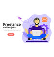 freelance online job design concept freelancer vector image