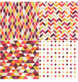 geometric orange seamless pattern vector image vector image