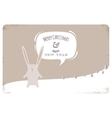 Greeting Card with Christmas Rabbit vector image vector image