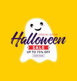 halloween sale banner special offer vector image