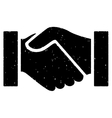 Handshake Grainy Texture Icon vector image vector image
