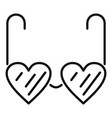 heart eyeglasses icon outline style vector image vector image