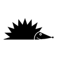 Hedgehog icon vector image