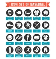 Icons Baseball with titles vector image vector image