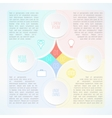 infographic template with circles suitable vector image vector image
