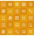 Internet education line icons vector image vector image